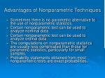 advantages of nonparametric techniques