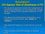 assumptions chi square test of goodness of fit