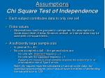 assumptions chi square test of independence
