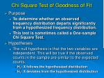 chi square test of goodness of fit