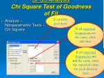 spss analysis chi square test of goodness of fit