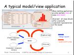 a typical model view application