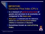 definition consumer price index cpi is