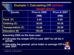 example 1 calculating cpi without weight given