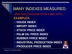 many indexes measured