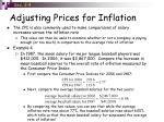 adjusting prices for inflation