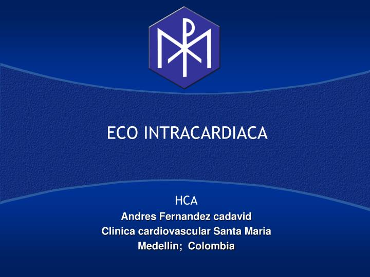 eco intracardiaca n.