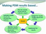 making psm results based