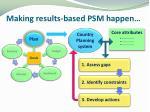 making results based psm happen