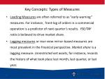 key concepts types of measures