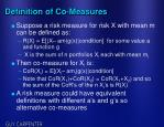 definition of co measures