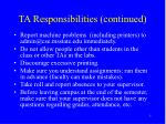 ta responsibilities continued1