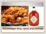 jambalaya rice spice and shrimp