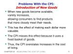 problems with the cpi introduction of new goods