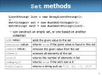 set methods