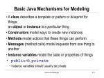 basic java mechanisms for modeling