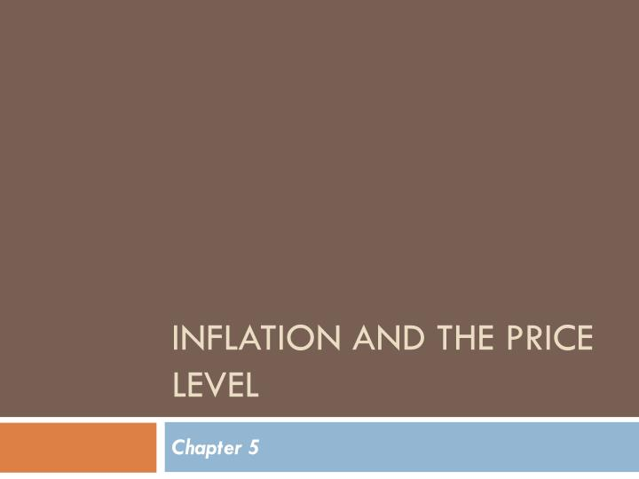 inflation and the price level n.