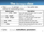 the arrays class