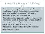 proofreading editing and publishing