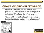 grant wiggins on feedback