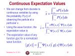 continuous expectation values