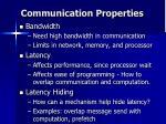 communication properties