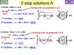2 step solutions a