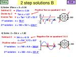 2 step solutions b