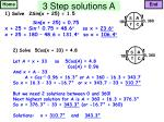 3 step solutions a