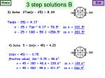 3 step solutions b