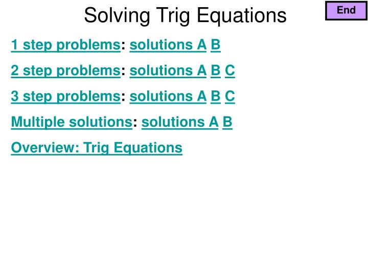 solving trig equations n.