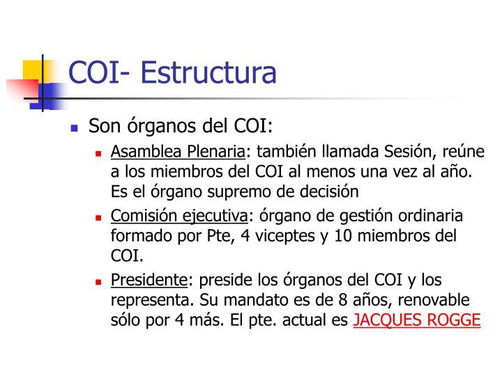 COI- Estructura