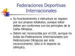 federaciones deportivas internacionales