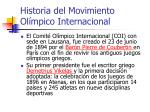 historia del movimiento ol mpico internacional