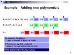 example adding two polynomials