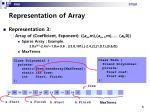 representation of array
