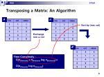 transposing a matrix an algorithm