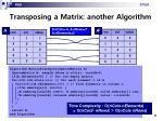 transposing a matrix another algorithm