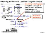 inferring behavioral latches asynchronous