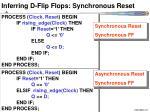 inferring d flip flops synchronous reset