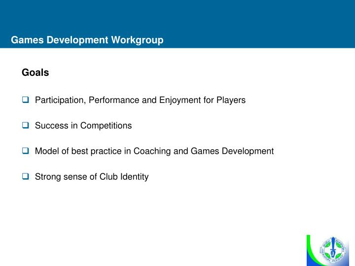 Games Development Workgroup