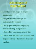 advantages of pert cpm