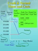 crash normal times and costs