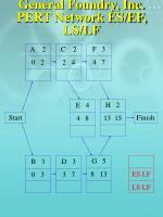 general foundry inc pert network es ef ls lf