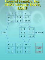 general foundry inc pert network es ef ls lf1