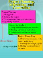 project planning scheduling and controlling
