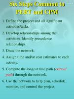 six steps common to pert and cpm