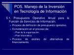 po5 manejo de la inversi n en tecnolog a de informaci n