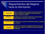 requerimientos del negocio hacia la informaci n1