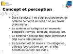 concept et perception